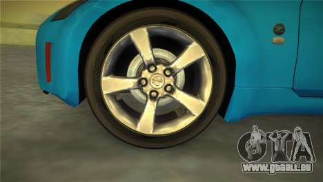 Nissan 350Z für GTA Vice City zurück linke Ansicht