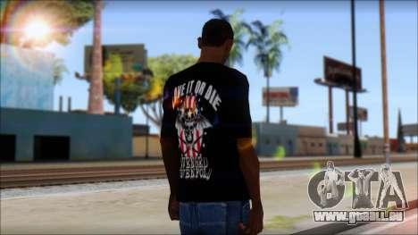 A7X Love It Or Die Fan T-Shirt pour GTA San Andreas deuxième écran