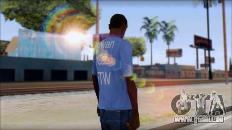 Nyan Cat FTW T-Shirt für GTA San Andreas zweiten Screenshot