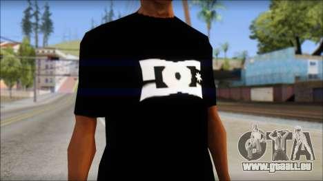 DC Shoes Shirt pour GTA San Andreas troisième écran