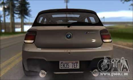 BMW M135i pour GTA San Andreas vue de dessous