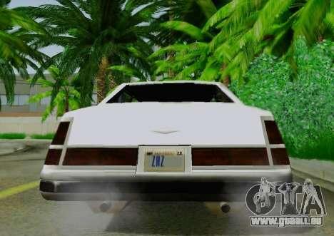 Washington Limousine für GTA San Andreas Rückansicht