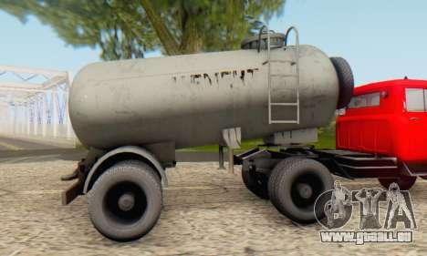Trailer cement carrier TTC 26 für GTA San Andreas zurück linke Ansicht