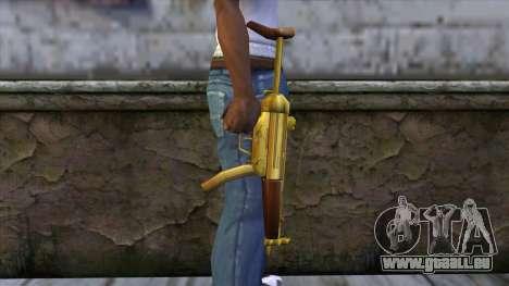 MP5 Gold from CSO NST pour GTA San Andreas troisième écran