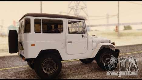 Toyota Land Cruiser (FJ40) 1978 pour GTA San Andreas laissé vue