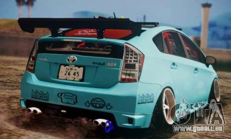 Toyota Prius Hybrid 2011 Helaflush für GTA San Andreas Rückansicht