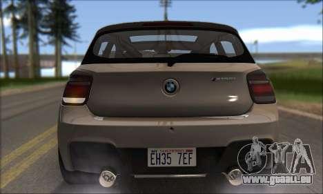 BMW M135i pour GTA San Andreas vue de côté