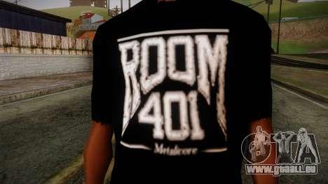 Room 401 T- Shirt für GTA San Andreas dritten Screenshot