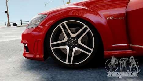 Mercedes-Benz S65 W221 AMG v1.3 pour GTA 4 est une vue de dessous