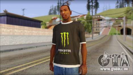 Monster T-Shirt Black für GTA San Andreas