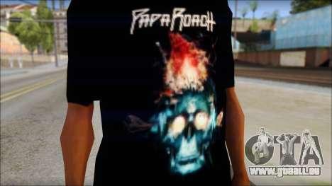 Papa Roach The Connection Fan T-Shirt für GTA San Andreas dritten Screenshot