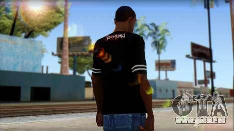 Billabong T-Shirt Black für GTA San Andreas zweiten Screenshot