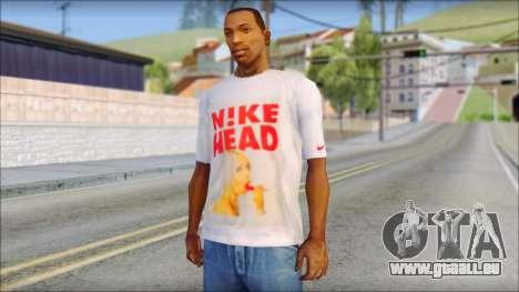 N1KE Head T-Shirt für GTA San Andreas