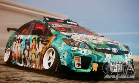 Toyota Prius Hybrid 2011 Helaflush pour GTA San Andreas vue de côté