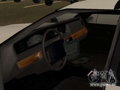 Police Original Cruiser v.4 pour GTA San Andreas vue de dessous