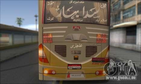 Sada Bahar Coach pour GTA San Andreas vue intérieure