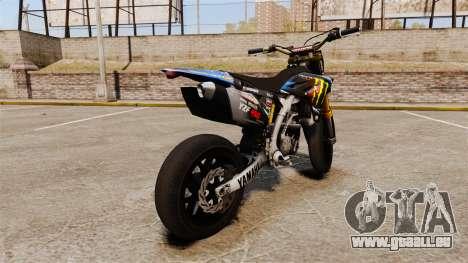 Yamaha YZF-450 v1.18 pour GTA 4 Vue arrière de la gauche