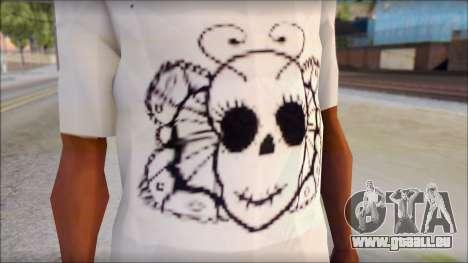 Skull Butterfly T-Shirt pour GTA San Andreas troisième écran