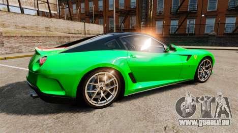 Ferrari 599 GTO PJ4 pour GTA 4 est une gauche