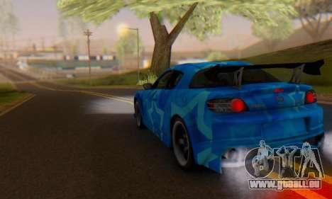 Mazda RX-8 VeilSide Blue Star pour GTA San Andreas vue de côté