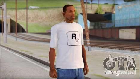 Rockstar Games White T-Shirt pour GTA San Andreas