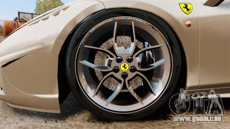 Ferrari 458 Italia Speciale Novitec Rosso für GTA 4 Rückansicht