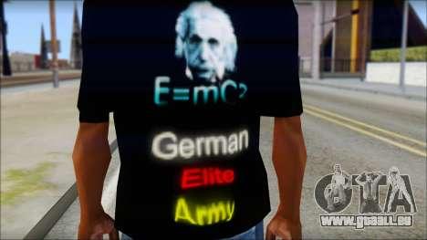 German Elite Army Emcore Fan T-Shirt für GTA San Andreas dritten Screenshot