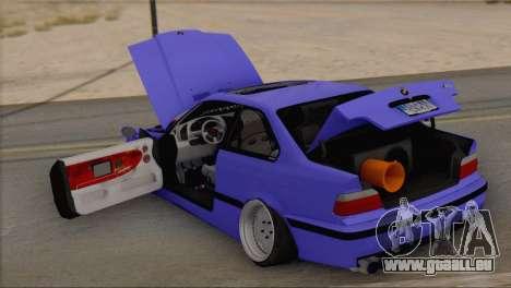 BMW M3 E36 Coupe Slammed pour GTA San Andreas vue arrière