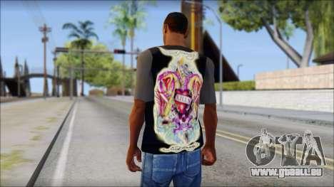 Ed Hardy T-Shirt für GTA San Andreas zweiten Screenshot