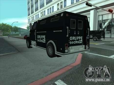 Securicar из GTA 3 für GTA San Andreas zurück linke Ansicht