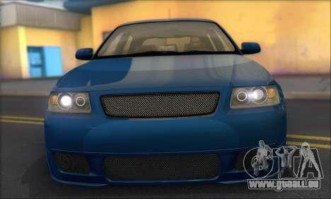 Audi A3 1999 pour GTA San Andreas laissé vue