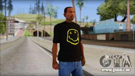 Nirvana T-Shirt pour GTA San Andreas