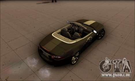 Jaguar XK 2007 für GTA San Andreas zurück linke Ansicht