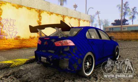 Mitsubishi Lancer EVO X Carbon Coloured für GTA San Andreas rechten Ansicht