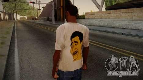 Yao Ming T-Shirt pour GTA San Andreas deuxième écran
