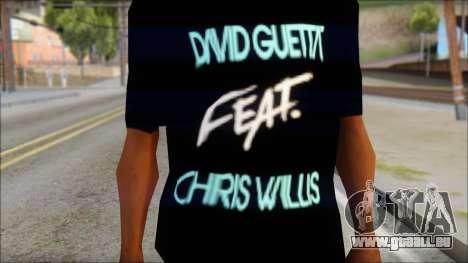 David Guetta Gettin Over T-Shirt für GTA San Andreas dritten Screenshot