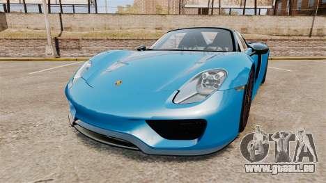 Porsche 918 2013 pour GTA 4
