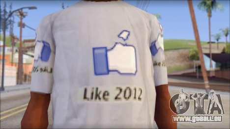 The Likersable T-Shirt pour GTA San Andreas troisième écran