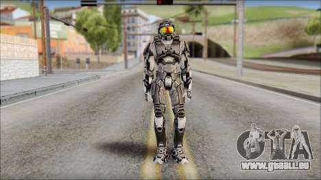 Masterchief Black from Halo für GTA San Andreas