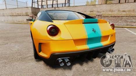 Ferrari 599 GTO PJ2 pour GTA 4 Vue arrière de la gauche