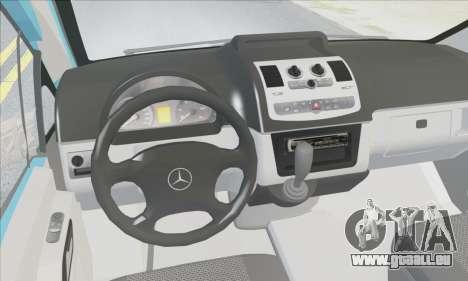 Mercedes-Benz 115 CDI Vito 2007 Stance pour GTA San Andreas vue intérieure