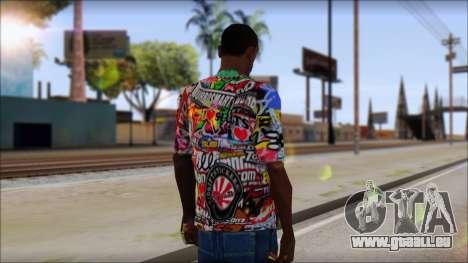 Sticker Bomb T-Shirt für GTA San Andreas zweiten Screenshot