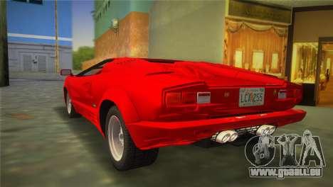 Lamborghini Countach 1988 25th Anniversary für GTA Vice City linke Ansicht