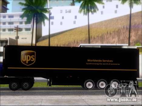 Прицеп United Parcel Service pour GTA San Andreas vue arrière