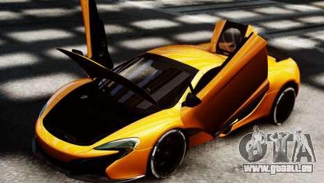 McLaren 650S Spider 2014 pour GTA 4 Vue arrière de la gauche