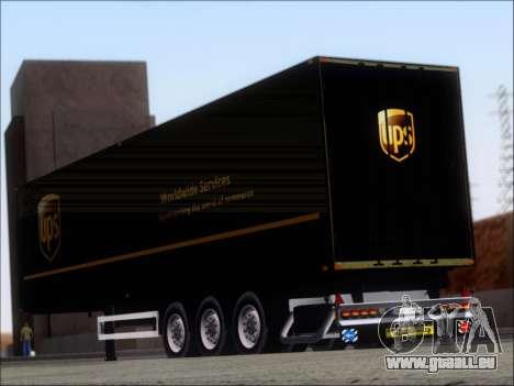 Прицеп United Parcel Service pour GTA San Andreas sur la vue arrière gauche