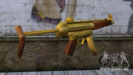 MP5 Gold from CSO NST für GTA San Andreas zweiten Screenshot