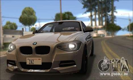 BMW M135i pour GTA San Andreas vue de droite