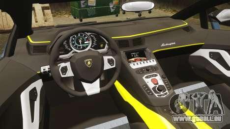 Lamborghini Aventador LP720-4 50th Anniversario pour GTA 4 est une vue de l'intérieur
