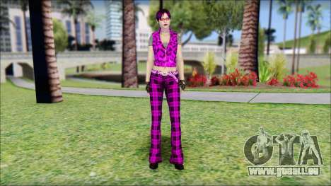 Rock Chicks Purple Ped pour GTA San Andreas